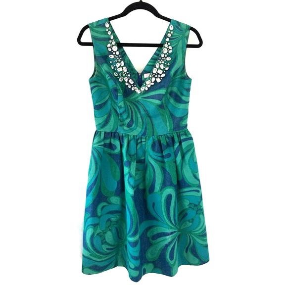 Lily Pulitzer Metallic Thread Rhinestones Dress